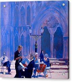 Tea At York Minster Acrylic Print by Neil McBride