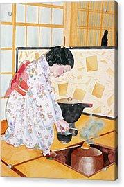 Tea Ceremony Acrylic Print by Judy Swerlick