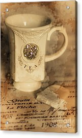 Tea Cups And Vintage Stains Acrylic Print by Jorgo Photography - Wall Art Gallery