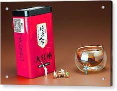 Acrylic Print featuring the photograph Tea Drinking In A Family Little People Big World by Paul Ge
