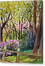 Japanese Tea Garden Acrylic Print by Karen Coggeshall