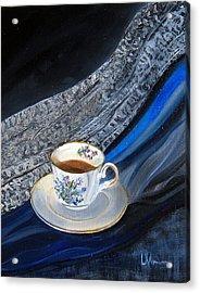 Tea, Lace, Silk, Linen Acrylic Print