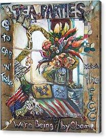 Tea Parties Acrylic Print by Lee Anne Stieglitz