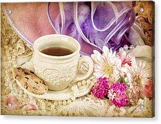 Tea Party Acrylic Print by Cheryl Davis