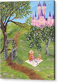 Acrylic Print featuring the painting Tea Party by Christie Minalga