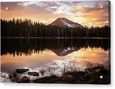 Tea Pot Lake Sunset Acrylic Print by Johnny Adolphson