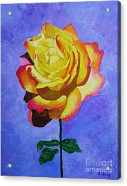 Acrylic Print featuring the painting Tea Rose by Rodney Campbell