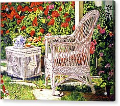 Tea Time Acrylic Print by David Lloyd Glover