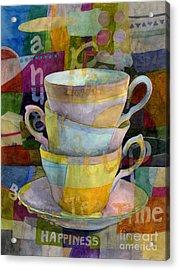 Tea Time Acrylic Print by Hailey E Herrera