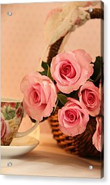 Tea Time Roses Acrylic Print