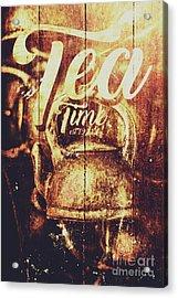 Tea Time Tin Sign Acrylic Print