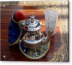 Tea Time Acrylic Print by Valia Bradshaw