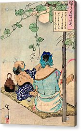 Tea Under The Moon Acrylic Print by Padre Art