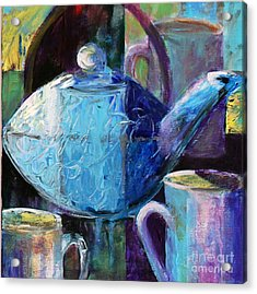 Acrylic Print featuring the photograph Tea With Friends by Priti Lathia