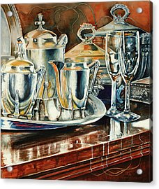 Tea With Marguerite Acrylic Print by Carolyn Coffey Wallace
