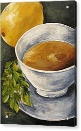 Tea With Mint And Lemon Acrylic Print by Torrie Smiley