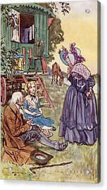 Tea With Mrs Jarley. Frontispiece By Acrylic Print by Vintage Design Pics