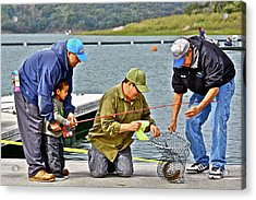 Teach Him To Fish Acrylic Print