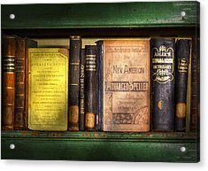 Teacher - Books You Use In School  Acrylic Print by Mike Savad