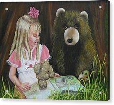 Acrylic Print featuring the painting Teacher by Joni McPherson