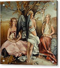Teaching Mysticism Acrylic Print by Jacque Hudson
