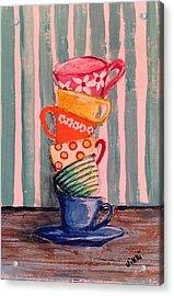 Teacups Acrylic Print