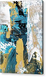 Acrylic Print featuring the painting Teal Abstract by Christina Rollo