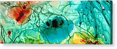 Teal Aqua Art - Connected - Sharon Cummings Acrylic Print