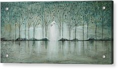 Teal Forest Acrylic Print