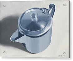 Teapot Still Life Oil Painting Acrylic Print by Mark Webster