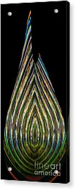 Acrylic Print featuring the digital art Teardrop by Wendy Wilton