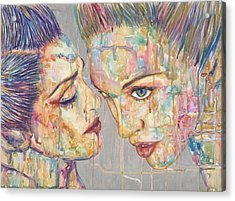 Tears Bursting In A  Perfect Sky Acrylic Print by Joseph Lawrence Vasile