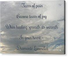 Tears Acrylic Print