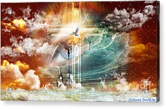 Acrylic Print featuring the digital art Tears To Triumph by Dolores Develde