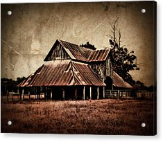 Teaselville Texas Barns Acrylic Print by Julie Hamilton