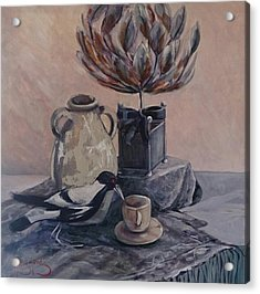 Teatime With Maggie Acrylic Print