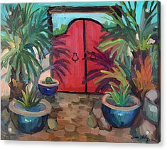 Acrylic Print featuring the painting Tecate Garden Gate by Diane McClary