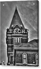 Tech B W Georgia Institute Of Technology Atlanta Georgia Art Acrylic Print