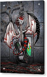 Acrylic Print featuring the digital art Tech-n-dustrial Music Dragon by Stanley Morrison