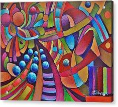 Technicolor Bloom Acrylic Print by Jason Williamson