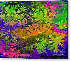 Technicolor Leaves Acrylic Print