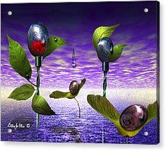 Techno Nature - Flower Drills Acrylic Print by Billie Jo Ellis