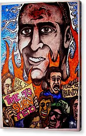 Ted Bundys Last Smile Acrylic Print by Sam Hane