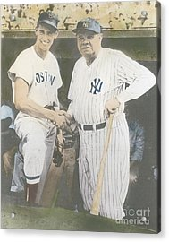 Ted Williams And Babe Ruth Acrylic Print by Susan Bock