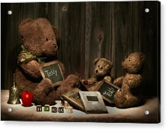 Teddy Bear School Acrylic Print by Tom Mc Nemar