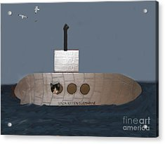 Teddy In Submarine Acrylic Print by Reb Frost
