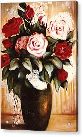 Ted's Flowers Acrylic Print