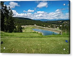 Acrylic Print featuring the photograph Tee Box With As View by Darcy Michaelchuk
