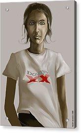 Tee Shirt Portrait Acrylic Print