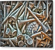 Teed Acrylic Print by Walt Foegelle